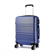 K1871-1L - Kono ABS Design orizontal sculptat Valiza 24 inch - Albastru marin