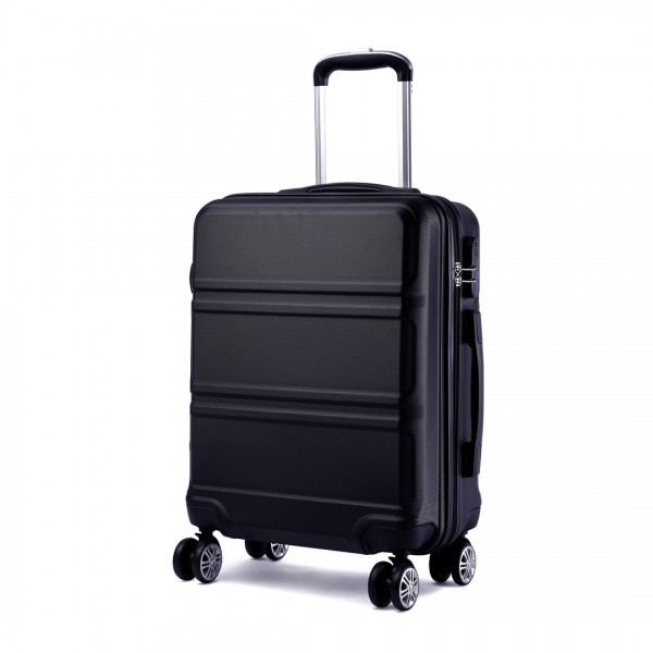 K1871L-Hard Shell Cabin ABS Suitcase with Spinning Wheels Luggage Black 20''