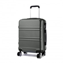 K1871L-Hard Shell Cabin ABS Suitcase with Spinning Wheels Luggage Grey 28''