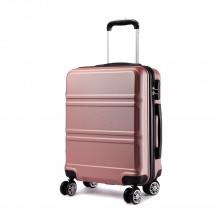 K1871L-Hard Shell Cabin ABS Valise avec Spinner Roues Bagages Nude 20 ''