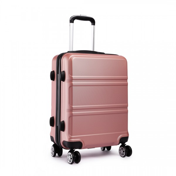 K1871L-Hard Shell Cabin ABS Suitcase with Spinning Wheels Luggage Nude 24''
