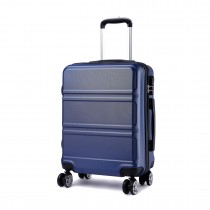 K1871L-Hard Shell Cabin ABS Suitcase with Spinning Wheels  Navy 20''