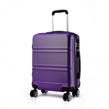 K1871L-Hard Shell Cabin ABS Valise avec Spinner Roues Bagages Violet 20 ''