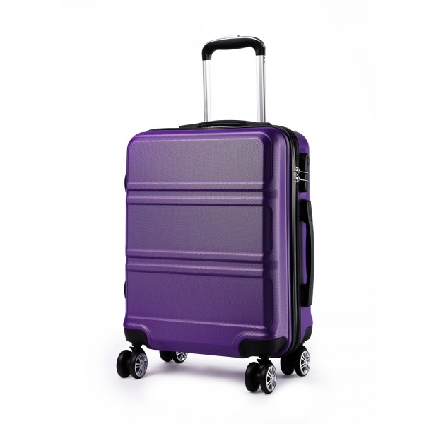 K1871L-Hard Shell Cabin ABS Suitcase with Spinning Wheels Luggage Purple 20''
