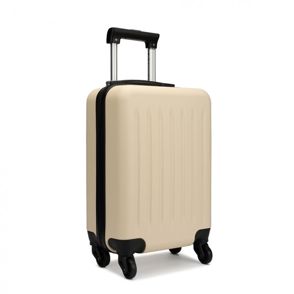 K1872L - KONO CABIN SIZE LUGGAGE - SUITABLE FOR ALL AIRLINES - BEIGE