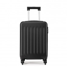 K1872L-KONO ABS HARD SHELL 24 INCH SUITCASE WITH SPINNING WHEELS LUGGAGE BLACK