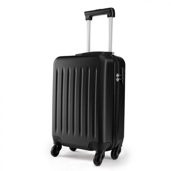 K1872L - KONO CABIN SIZE LUGGAGE - SUITABLE FOR ALL AIRLINES - BLACK