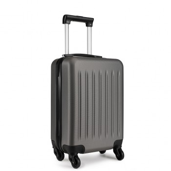 K1872L-KONO ABS HARD SHELL 28 INCH SUITCASE WITH SPINNING WHEELS LUGGAGE GREY