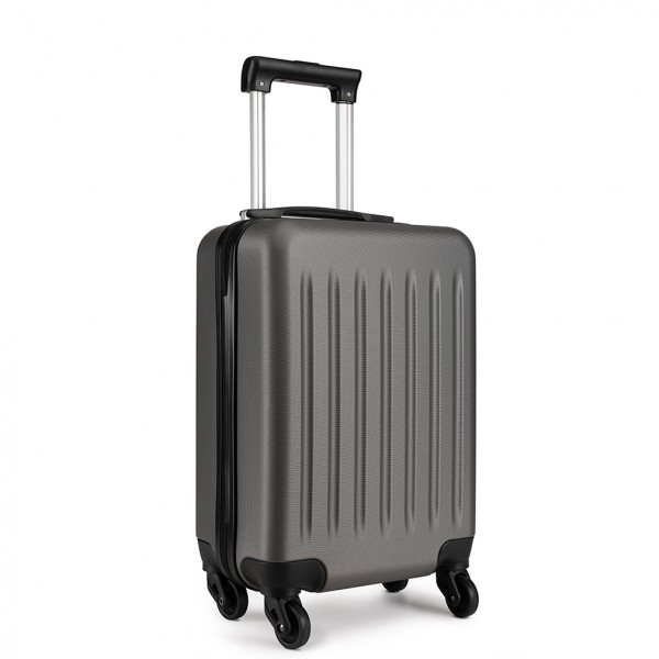 K1872L - KONO CABIN SIZE LUGGAGE - SUITABLE FOR ALL AIRLINES - GREY