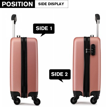 K1872L-KONO ABS HARD SHELL 28 INCH SUITCASE WITH SPINNING WHEELS LUGGAGE NUDE