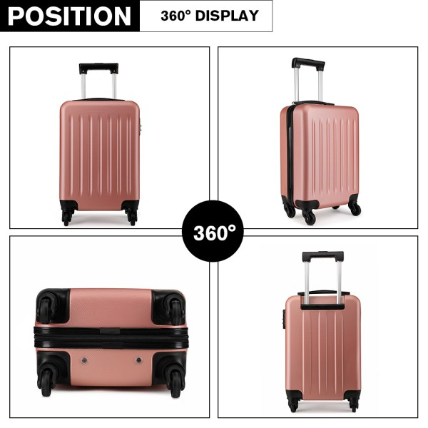 K1872L-KONO ABS HARD SHELL 24 INCH SUITCASE WITH SPINNING WHEELS LUGGAGE NUDE