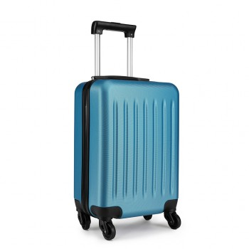 K1872L-KONO ABS HARD SHELL 24 INCH SUITCASE WITH SPINNING WHEELS LUGGAGE NAVY