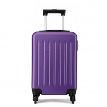 K1872L-KONO ABS HARD SHELL 24 INCH SUITCASE WITH SPINNING WHEELS LUGGAGE PURPLE