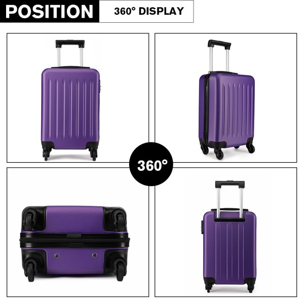 K1872L - KONO CABIN SIZE LUGGAGE - SUITABLE FOR ALL AIRLINES - PURPLE