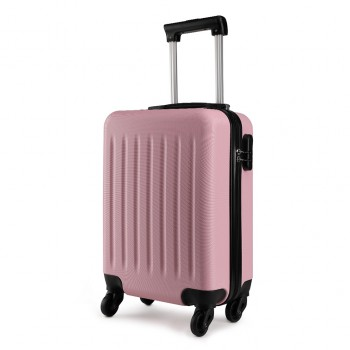 K1872L-KONO ABS HARD SHELL 24 INCH SUITCASE WITH SPINNING WHEELS LUGGAGE PINK