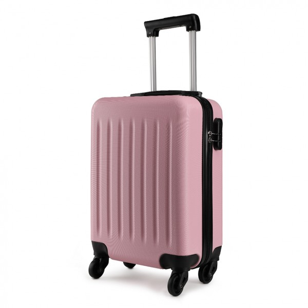 K1872L-KONO ABS HARD SHELL 28 INCH SUITCASE WITH SPINNING WHEELS LUGGAGE PINK