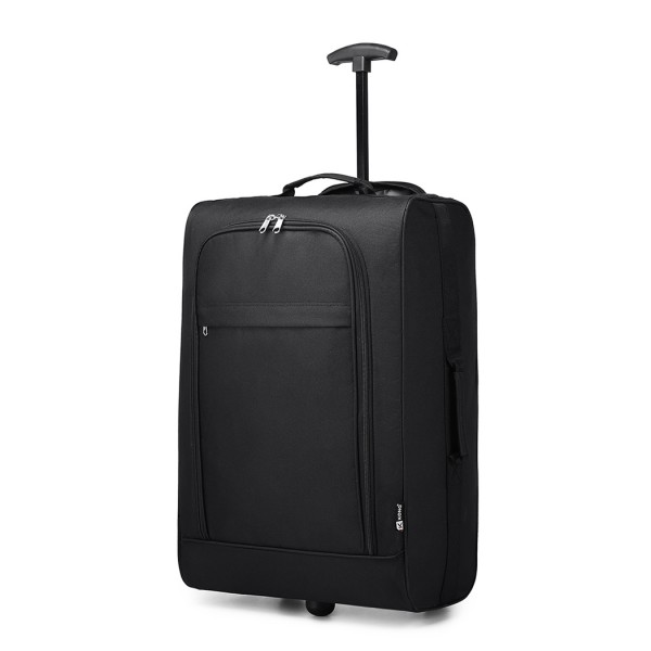 K1873 - Kono 20 Inch 600D Soft Shell Hand Luggage Suitcase - Black
