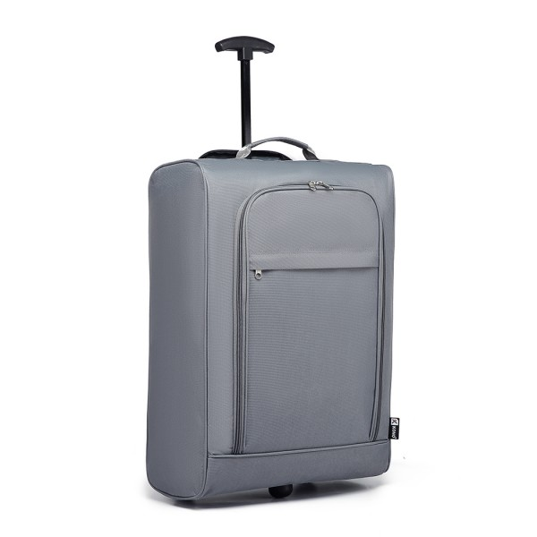 K1873 - Kono 20 Inch 600D Soft Shell Hand Luggage Suitcase - Grey