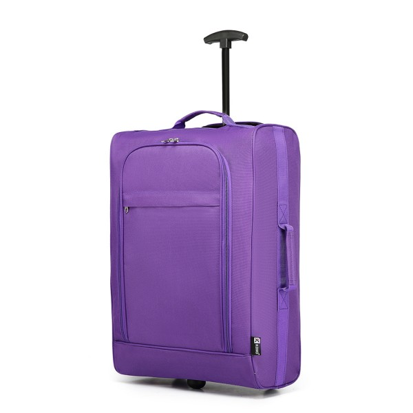 K1873 - Kono 20 Inch 600D Soft Shell Hand Luggage Suitcase - Purple