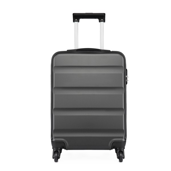 K1991-Kono Horizontal Design ABS Hard Shell Luggage 20 Inch Suitcase Grey