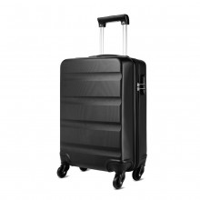 K1991-Kono Horizontal Design ABS Hard Shell Luggage 20 Inch Suitcase Black