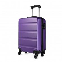K1991L - KONO HORIZONTAL DESIGN ABS HARD SHELL LUGGAGE 20 INCH SUITCASE - PURPLE