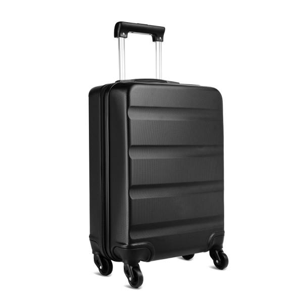 K1991-Kono Horizontal Design ABS Hard Shell Luggage 20 Inch Suitcase Black