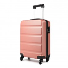 K1991L - KONO HORIZONTAL DESIGN ABS HARD SHELL LUGGAGE 20 INCH SUITCASE - NUDE