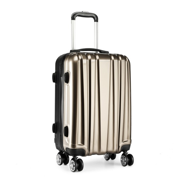 K1993 - Kono Metallic PC and ABS Hard Shell 20 Inch Suitcase - Gold