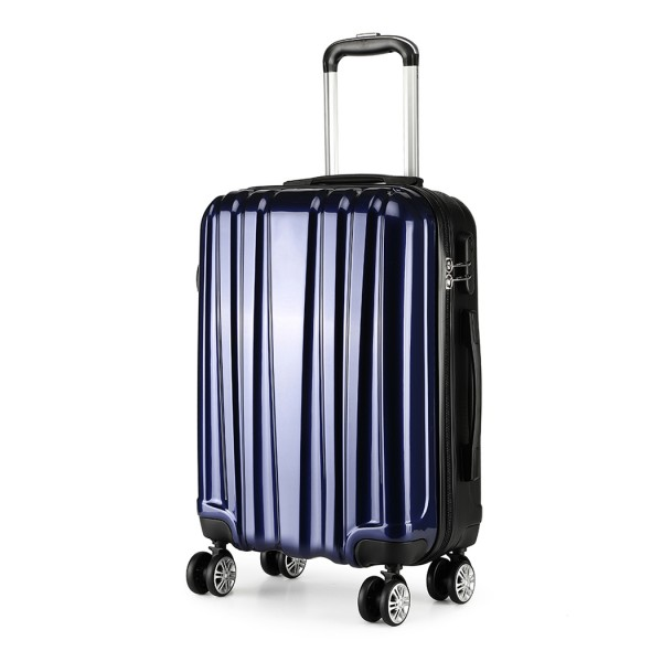 K1993 - Kono Metallic PC and ABS Hard Shell 20 Inch Suitcase - Navy