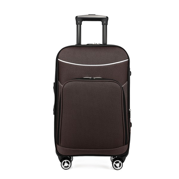 K1994-KONO SOFT SHELL WATERPROOF SUITCASE COFFEE