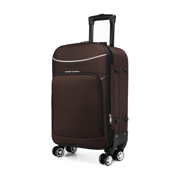 K1994 - KONO SOFT SHELL WATERPROOF SUITCASE - COFFEE