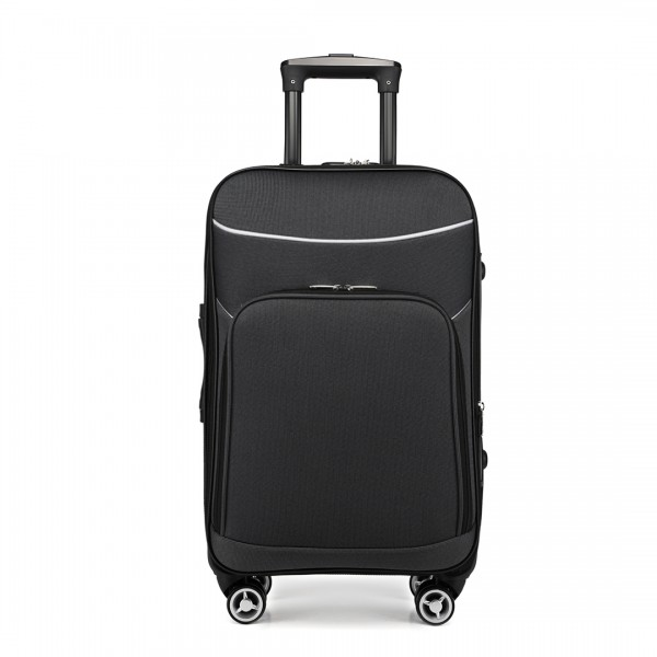 K1994 - KONO SOFT SHELL WATERPROOF SUITCASE - GREY