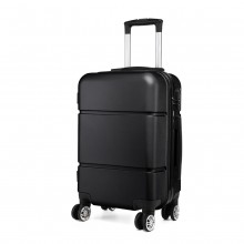 K1995 - KONO HARD SHELL ABS CARRY ON SUITCASE - BLACK