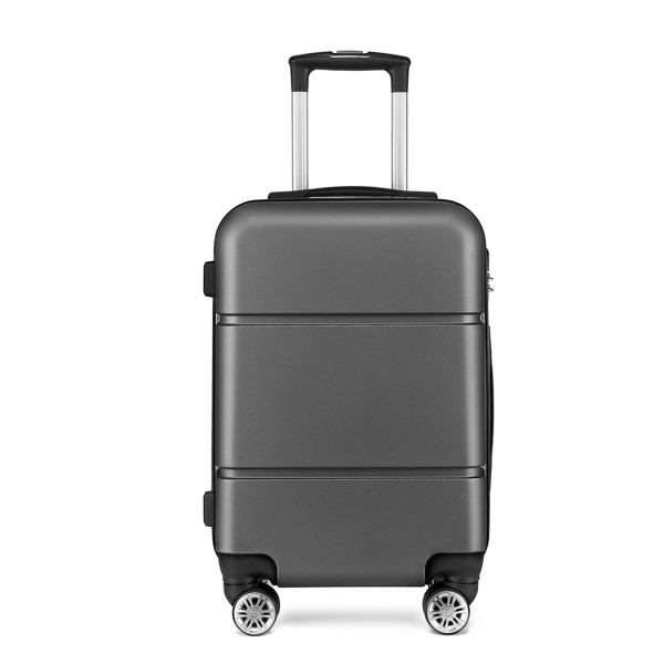 K1995-KONO HARD SHELL ABS CARRY ON SUITCASE GREY