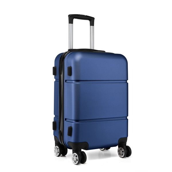 K1995-KONO HARD SHELL ABS CARRY ON SUITCASE NAVY