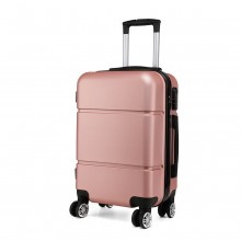 K1995-KONO HARD SHELL ABS CARRY ON SUITCASE NUDE