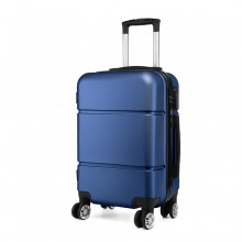 K1995 - KONO HARD SHELL ABS CARRY ON SUITCASE - NAVY