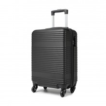 K1996L - KONO ABS HARD SHELL CARRY ON SUITCASE - BLACK
