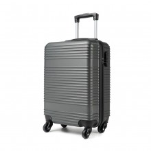 K1996L - KONO ABS HARD SHELL CARRY ON SUITCASE - GREY