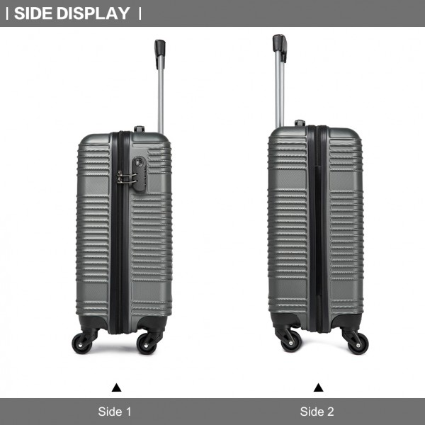 K1996 - KONO ABS HARD SHELL CARRY ON SUITCASE - GREY