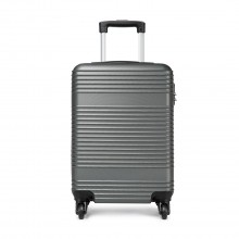 K1996L-KONO ABS HARD SHELL CARRY ON SUITCASE GREY