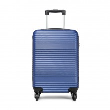 K1996L - KONO ABS HARD SHELL CARRY ON SUITCASE - NAVY