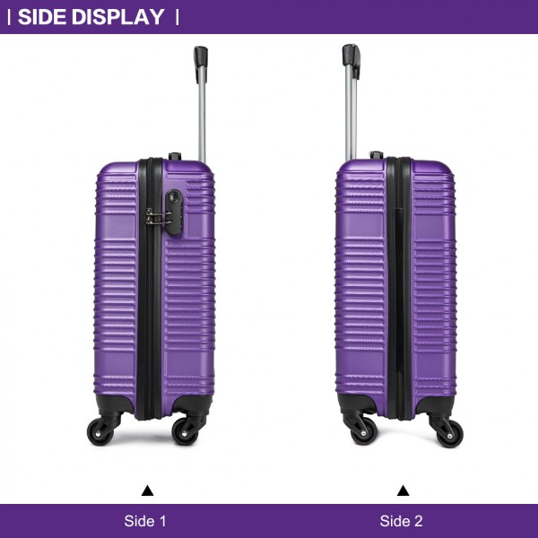 K1996L - KONO ABS HARD SHELL CARRY ON SUITCASE - PURPLE
