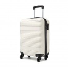 K1996L - KONO ABS HARD SHELL CARRY ON SUITCASE - WHITE