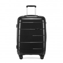 K1997 - KONO 20 INCH HARD SHELL PP SUITCASE - BLACK