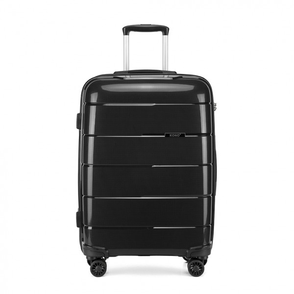 K1997 - KONO 24 INCH HARD SHELL PP SUITCASE - BLACK