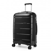 K1997L - KONO 24 INCH HARD SHELL PP SUITCASE - BLACK