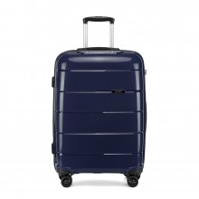 K1997 - KONO 20 INCH HARD SHELL PP SUITCASE - NAVY