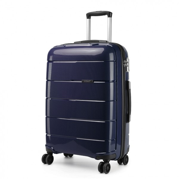 K1997 - KONO 28 INCH HARD SHELL PP SUITCASE - NAVY